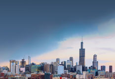City of Chicago with free space, illinois. USA royalty free stock photo