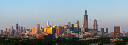 City of Chicago panorama Royalty Free Stock Images