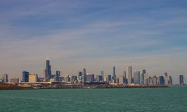 City of Chicago Skyline.Skyline. Stock Photo