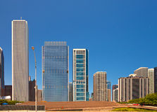 City of Chicago USA, panorama of downtown Stock Photos