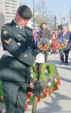 City Officials at Remembrance Day Ceremonies royalty free stock photography