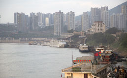 City Chongqing in sunset Stock Images