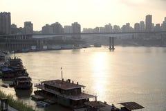 City Chongqing in sunset Stock Image