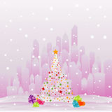 City at Christmas Royalty Free Stock Photography