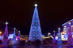 City on Christmas Royalty Free Stock Photography