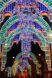 City christmas lights Royalty Free Stock Photo