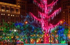 City Christmas lights Royalty Free Stock Photos
