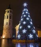 City Christmas Tree Stock Photography