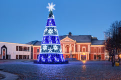 City Christmas Tree New Years tree on the Theater Square Royalty Free Stock Image