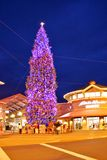 City Christmas tree in Woodburn, Oregon Stock Photo