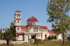 City Church in Georgioupolis, Crete, Greece Royalty Free Stock Photo
