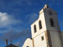 Free City Church Igreja Matriz Da Fuseta At The Algarve Coast Of Portugal Stock Photo - 215734330
