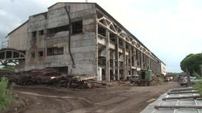 Ruins of Soviet factories in the town of Chusovoy.