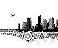 City with circles. Vector. City with circles on white background. Vector Royalty Free Stock Photo