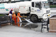 City cleaner Stock Photography