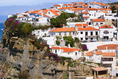 The city on the cliff in Portugal, Europe. Stock Photography