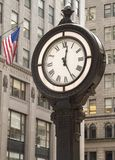 City Clock. This is a shot of a classic style clock on Fifth Ave. in Manhattan royalty free stock images