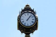 City Clock. On A Clear Sky Royalty Free Stock Photos
