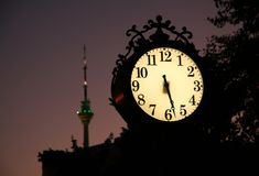 City clock Stock Image