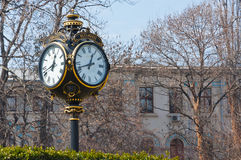 Old city clock Bucharest Romania Royalty Free Stock Images