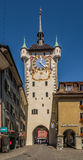City Clock tower in Baden - Switzerland Stock Photo
