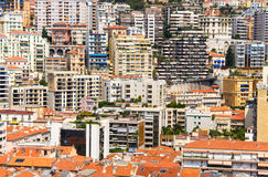 City closeness. A lot of buildings on a very small area. Monaco Stock Images