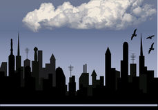 City and cloud Stock Images