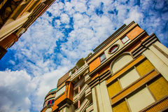City in the cloud. City in the bluesky cloud Stock Image