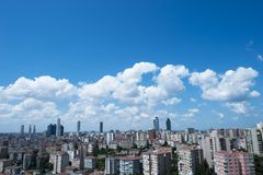 City and clouds Royalty Free Stock Images