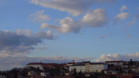 City and clouds on the sky stock footage