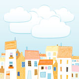 City and clouds for your text Royalty Free Stock Photo