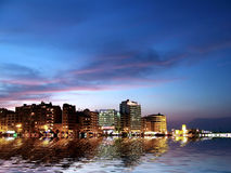 City Coast by Night. City Coastline at dusk in Malta Royalty Free Stock Photo