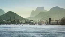 City Coastline And Buildings, Rio De Janeiro, Brazil royalty free stock photography