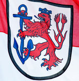 City coat of arms of Dusseldorf Royalty Free Stock Photos