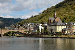 The City of Cochem, Germany on the Mosel River. View of the City Of Cochem, Germany on the Mosel River in the wine region Stock Photography