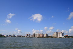 City of Cochin. View of Cochin city from Arabian sea Stock Image