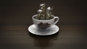 City coffee cup Stock Photos
