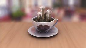 City coffee cup Stock Photo
