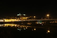 The city of Coimbra at night - Portugal Royalty Free Stock Photo