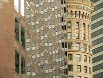 City Collage. Collage of several city buildings, both modern and historic royalty free stock photo
