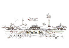 City Collection, Airport illustration Royalty Free Stock Images