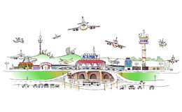 City Collection, Airport illustration Royalty Free Stock Photo