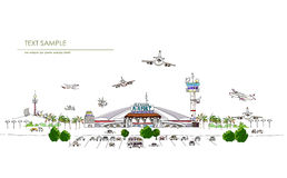 City Collection, Airport illustration Royalty Free Stock Photos