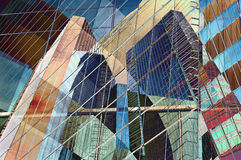 City color. Abstract design of colorful modern city royalty free stock photo