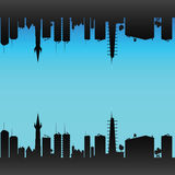 City color art vector illustration Royalty Free Stock Photos