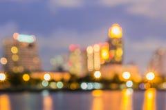 City colorful bokeh stock photography