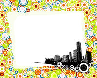 City with colorful circles. Stock Photos