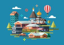 City. Colorful illustration. royalty free illustration