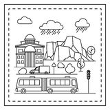 City coloring page for kids Royalty Free Stock Image