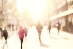 City commuters. Abstract blurred image of a city street scene Royalty Free Stock Image